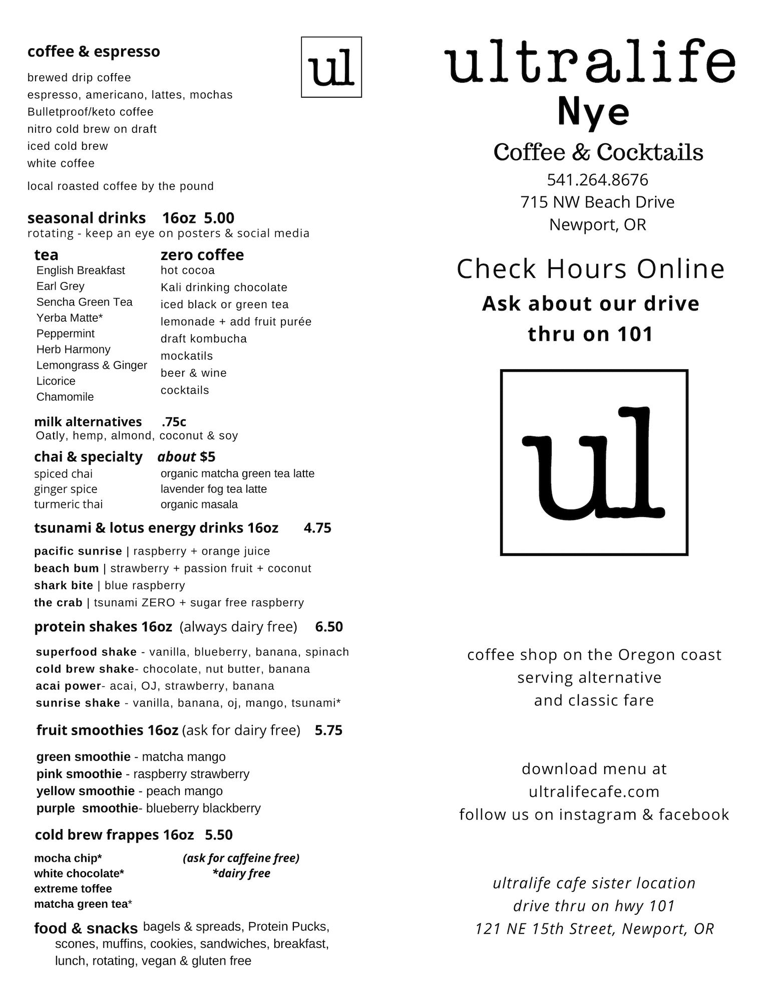 ultralife-drink-menu